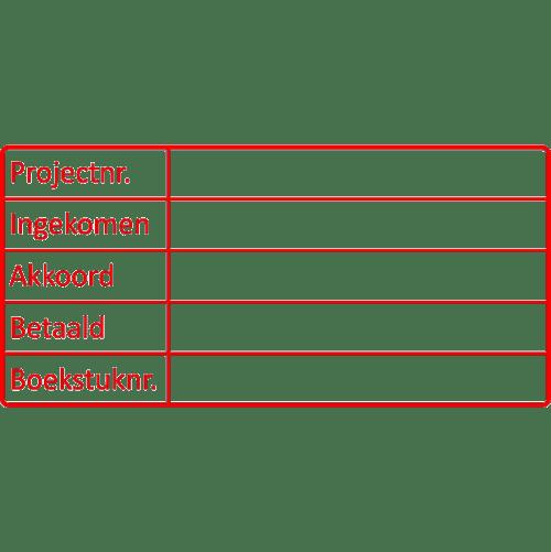 project stempel, nr.2102, afmeting: 70mm x 35mm
