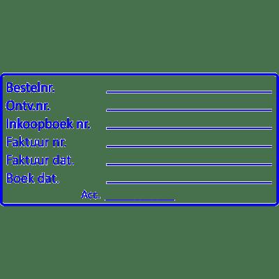boekhoud stempel, nr.2107, afmeting: 70mm x 35mm