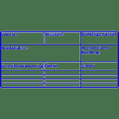 boekhoud stempel, nr.2110, afmeting: 70mm x 35mm