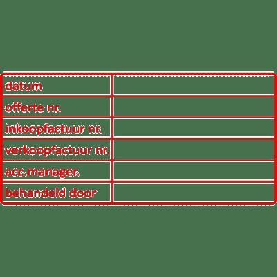 administratie stempel, nr.2115, afmeting: 70mm x 35mm