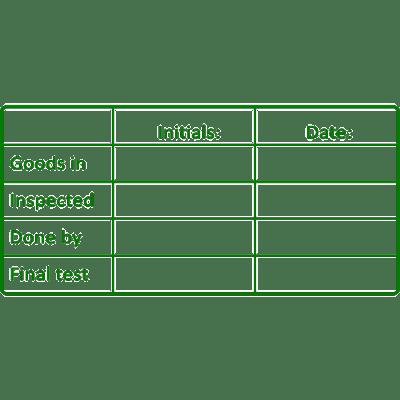 controle stempel, nr.2116, afmeting: 70mm x 35mm
