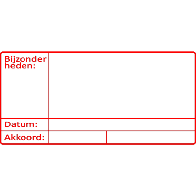 controle stempel, nr.2119, afmeting: 70mm x 35mm