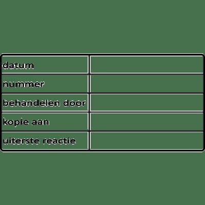 administratie stempel, nr.2120, afmeting: 70mm x 35mm