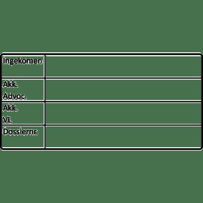 controle stempel, nr.2123, afmeting: 70mm x 35mm