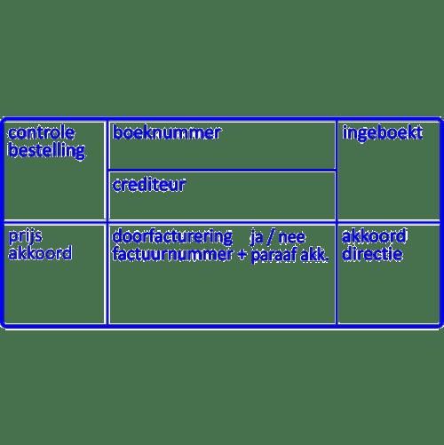 administratie stempel, nr.2127, afmeting: 70mm x 35mm