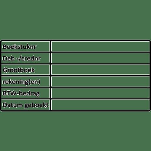 boekhoud stempel, nr.2128, afmeting: 70mm x 35mm