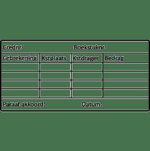 boekhoud stempel, nr.2131, afmeting: 70mm x 35mm