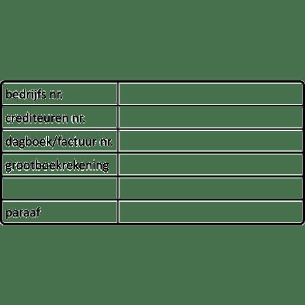 boekhoud stempel, nr.2132, afmeting: 70mm x 35mm