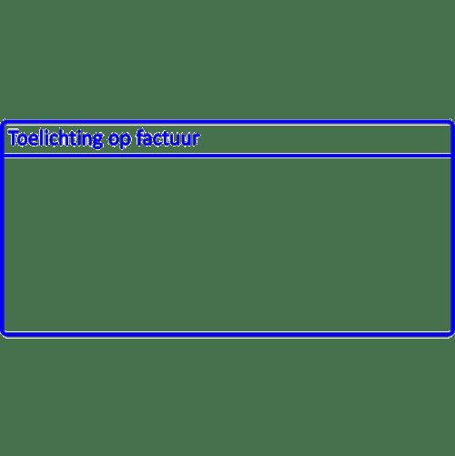 administratie stempel, nr.2137, afmeting: 70mm x 35mm