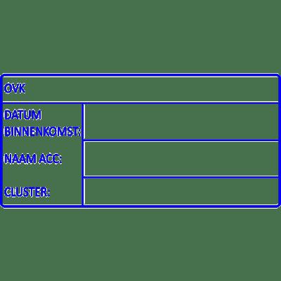 administratie stempel, nr.2138, afmeting: 70mm x 35mm
