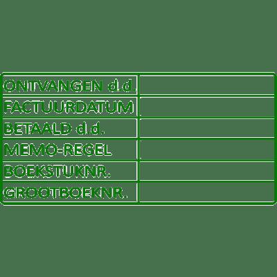 boekhoud stempel, nr.2139, afmeting: 70mm x 35mm