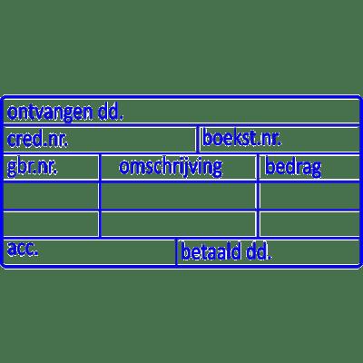 boekhoud stempel, nr.2141, afmeting: 70mm x 35mm