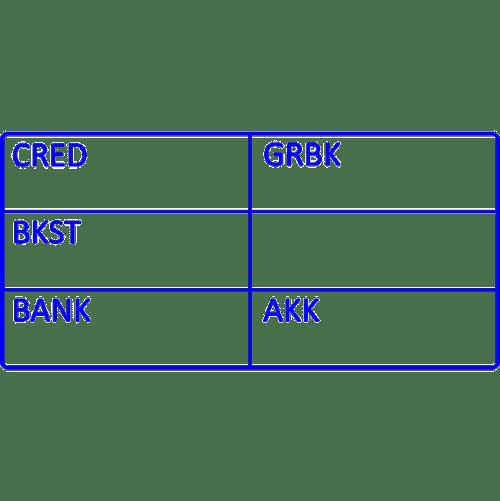 boekhoud stempel, nr.2143, afmeting: 70mm x 35mm