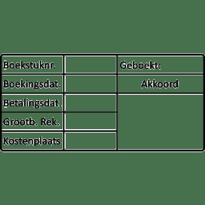 boekhoud stempel, nr.2144, afmeting: 70mm x 35mm
