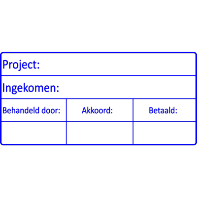 project stempel, nr.2145, afmeting: 70mm x 35mm