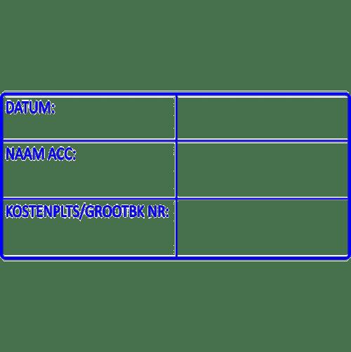 boekhoud stempel, nr.2147, afmeting: 70mm x 35mm