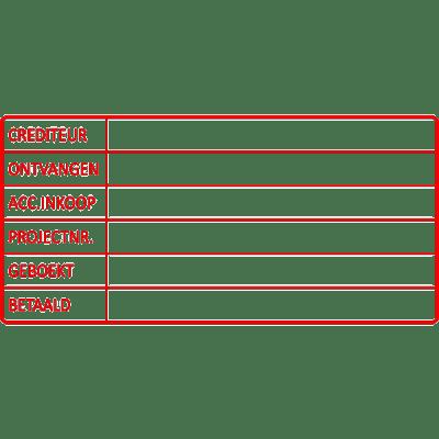 project stempel, nr.2148, afmeting: 70mm x 35mm