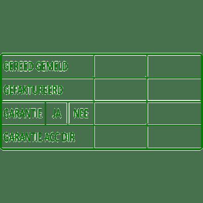 administratie stempel, nr.2149, afmeting: 70mm x 35mm