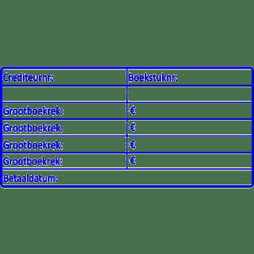 boekhoud stempel, nr.2150, afmeting: 70mm x 35mm