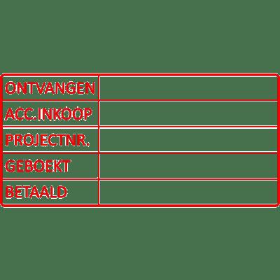 project stempel, nr.2152, afmeting: 70mm x 35mm