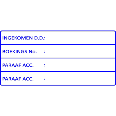 administratie stempel, nr.2153, afmeting: 70mm x 35mm