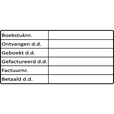 boekhoud stempel, nr.2154, afmeting: 70mm x 35mm