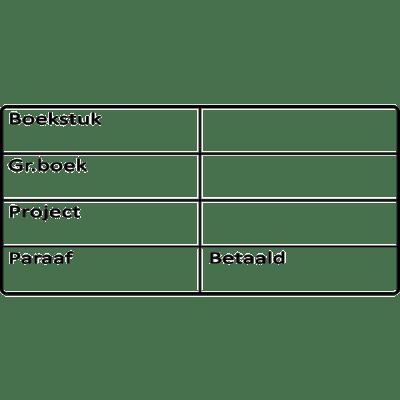 boekhoud stempel, nr.2158, afmeting: 70mm x 35mm