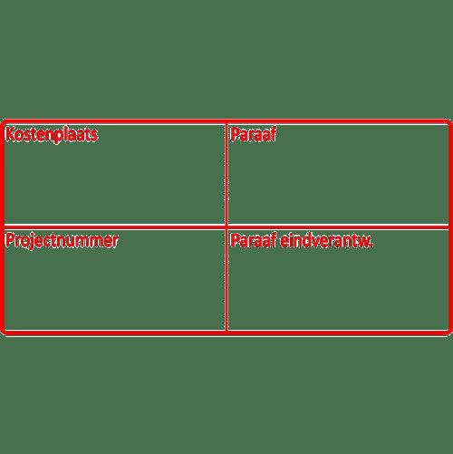 project stempel, nr.2159, afmeting: 70mm x 35mm