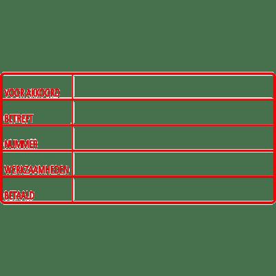 service stempel, nr.2165, afmeting: 70mm x 35mm