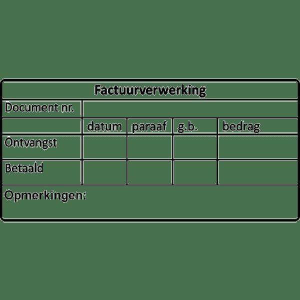 administratie stempel, nr.2166, afmeting: 70mm x 35mm