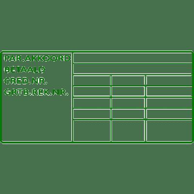 controle stempel, nr.2177, afmeting: 70mm x 35mm