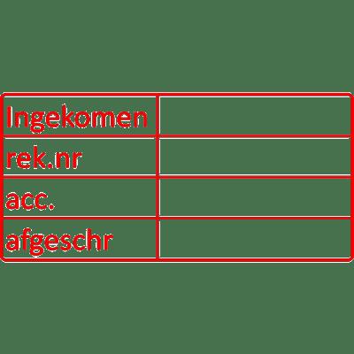 controle stempel, nr.2180, afmeting: 70mm x 35mm