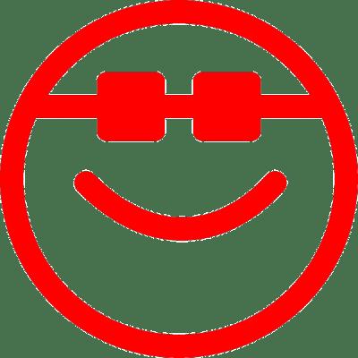 smiley cool, nr.2471, afmeting: 22mm x 22mm
