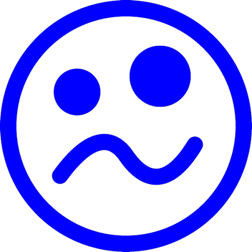 smiley ziek, nr.2484, afmeting: 22mm x 22mm