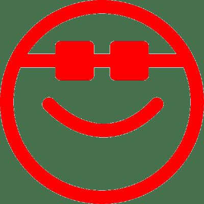 smiley cool, nr.2678, afmeting: 22mm x 22mm