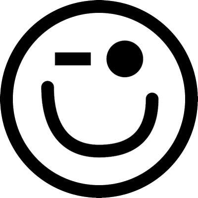 smiley knipoog, nr.2679, afmeting: 22mm x 22mm
