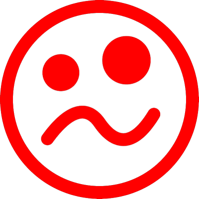 smiley ziek, nr.2691, afmeting: 22mm x 22mm