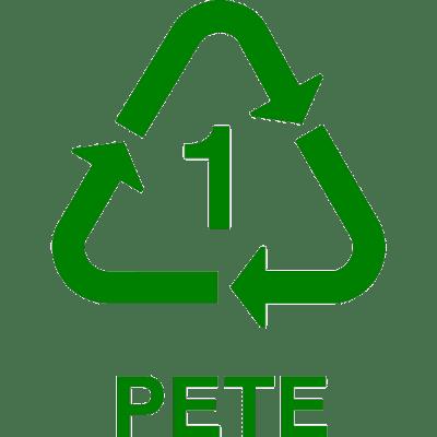 recycle PETE, nr.2693, afmeting: 22mm x 22mm