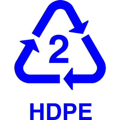 recycle HDPE, nr.2694, afmeting: 22mm x 22mm