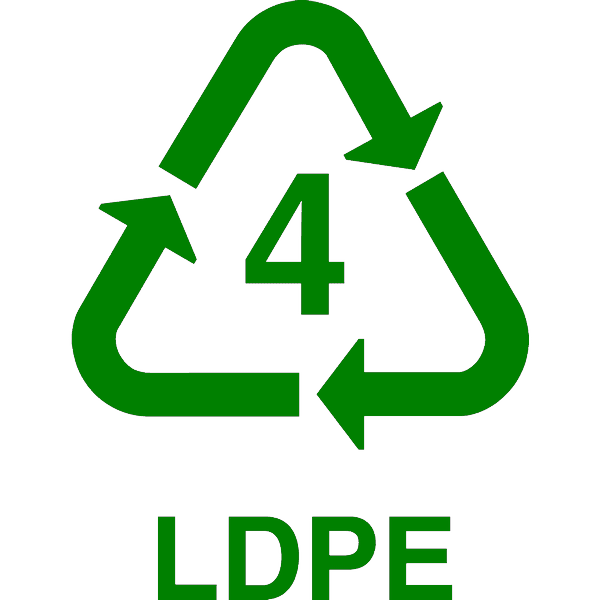 recycle LDPE, nr.2696, afmeting: 22mm x 22mm