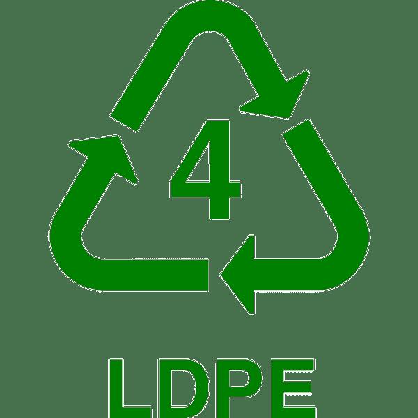 recycle LDPE, nr.2696, afmeting: 22mm x 22mm
