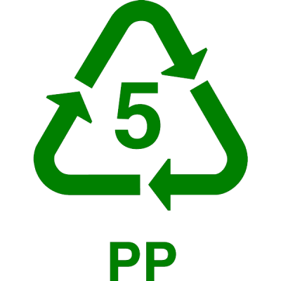 recycle PP, nr.2697, afmeting: 22mm x 22mm