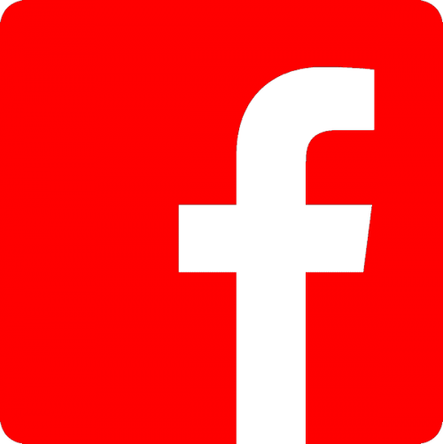 Facebook logo, nr.2701, afmeting: 22mm x 22mm