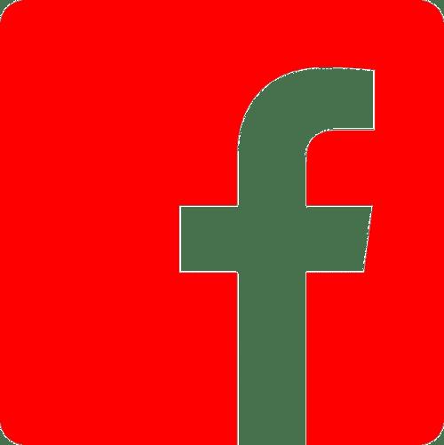Facebook logo, nr.2701, afmeting: 22mm x 22mm