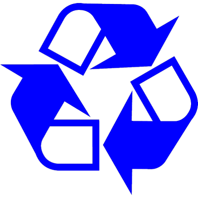 recycle logo, nr.2705, afmeting: 22mm x 22mm