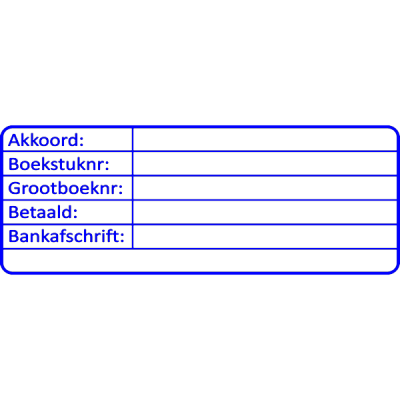 boekhouding stempel, nr.3000, afmeting: 70mm x 30mm
