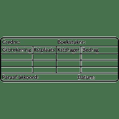 administratie stempel, nr.3001, afmeting: 70mm x 30mm