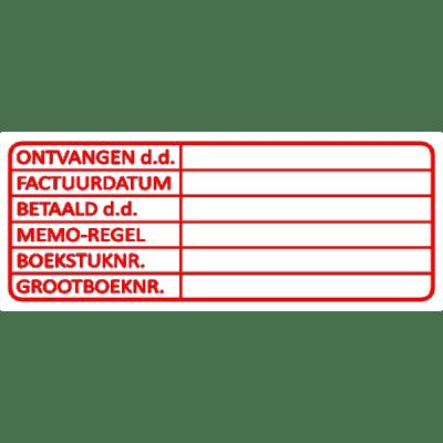 boekhouding stempel, nr.3002, afmeting: 70mm x 30mm