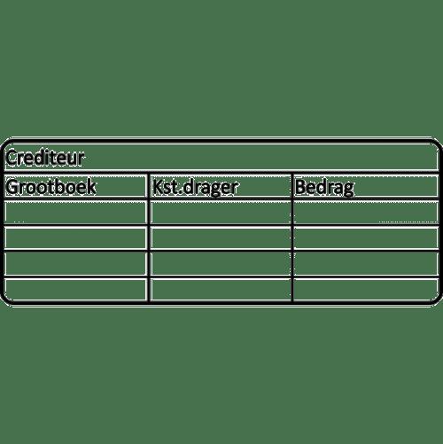 boekhouding stempel, nr.3035, afmeting: 70mm x 30mm