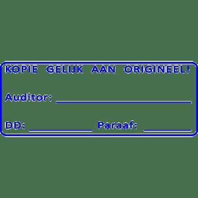 controle stempel, nr.3036, afmeting: 70mm x 30mm
